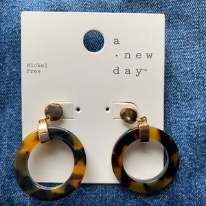A new day animal print round earrings
